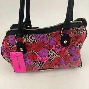 Betsey Johnson Satchel Bag peekaboo Leopard NWT